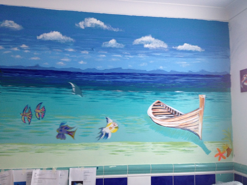 bathroom mural. Murals  amp painted furniture   Artworks and photography by Valli Hale